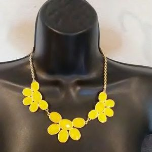 Yellow and gold statement necklace